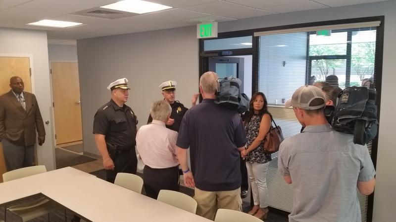 Police gave media members a  tour of the new substation Wednesday