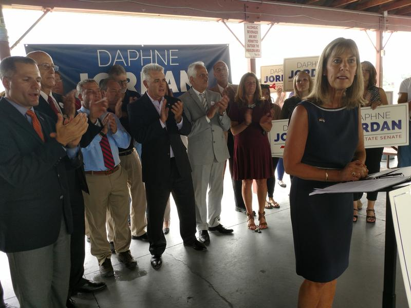 Daphne Jordan speaks at her campaign kickoff event in Troy