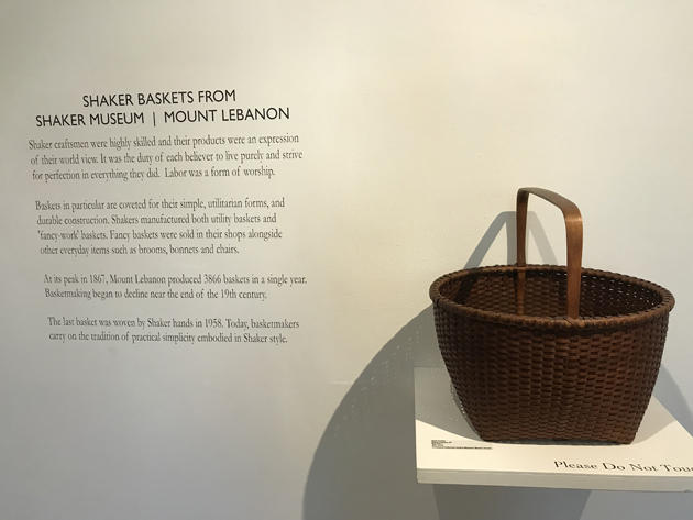 "Columbia County Historical Society's ""Shaker Baskets from the Shaker Museum"""