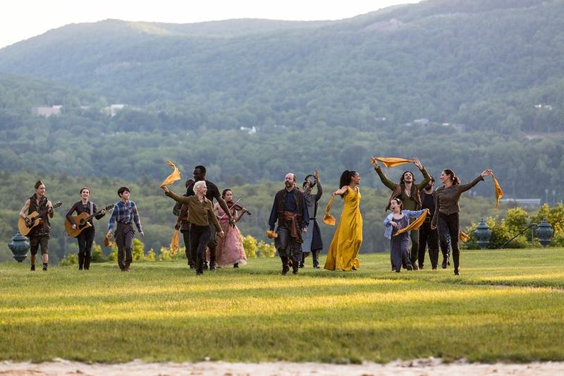 company of a HV Shakespeare production on the hill at Boscobel