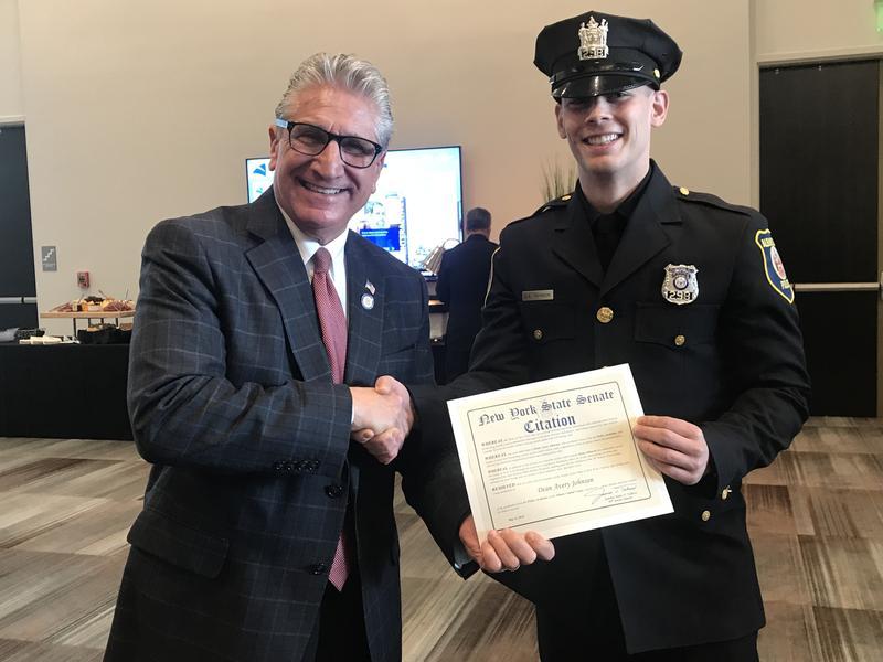 New York Senator Jim Tedisco with Officer Dean Johnson