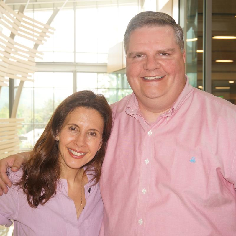 Jessica Hecht and Joe Donahue