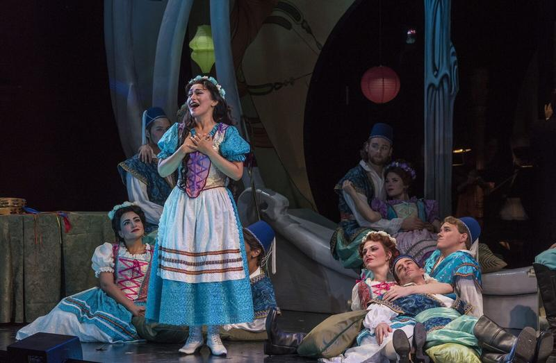 Cecilia Violetta López (Hanna Glawari) and Company of The Merry Widow