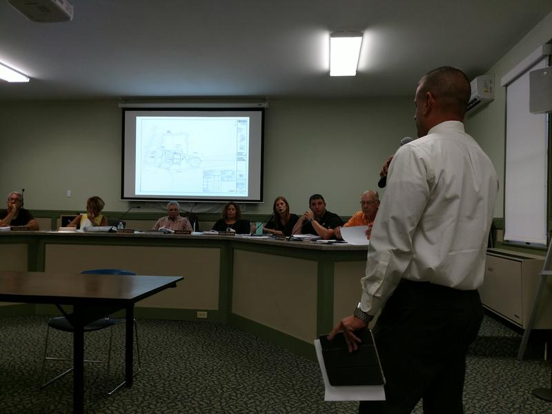Frank Rossi Jr. speaks to the Ballston Planning Board on July 25th, 2018