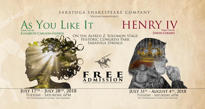 Artwork for Saratoga Shakespeare 2018