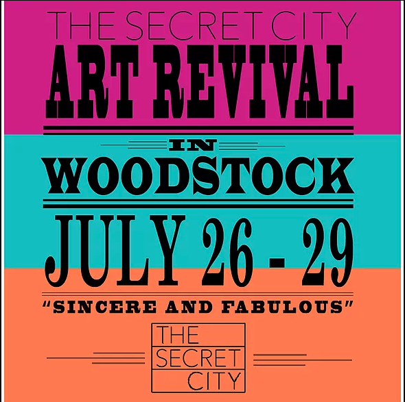 Secret City art revival one-sheet