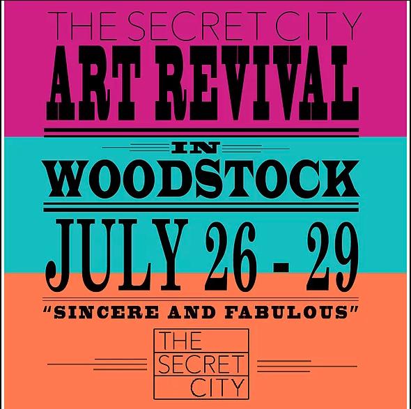 Secret City art revival one-sheet