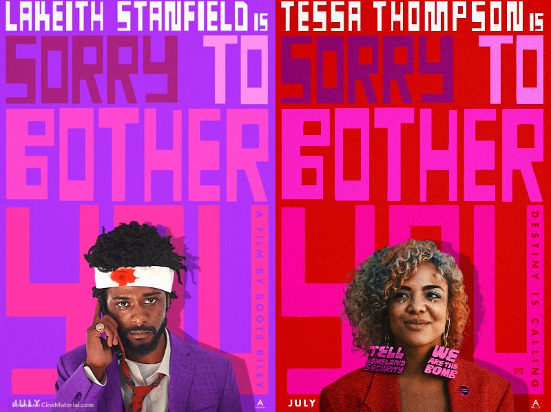 "Character posters for ""Sorry to Bother You"""