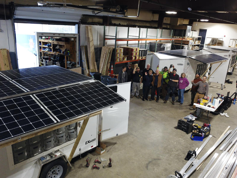 Solar cooperative builds portable solar-powered trailers