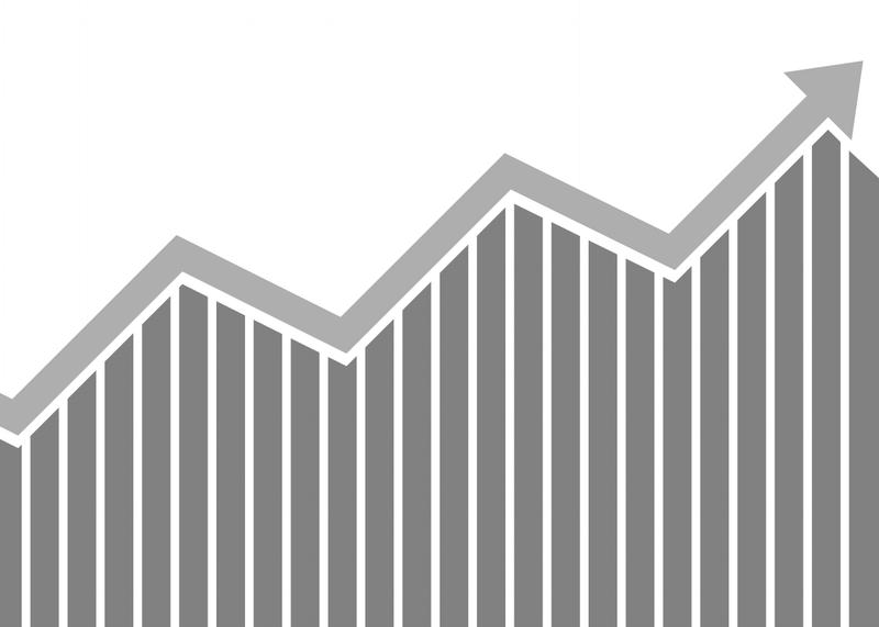 bar graph trending up