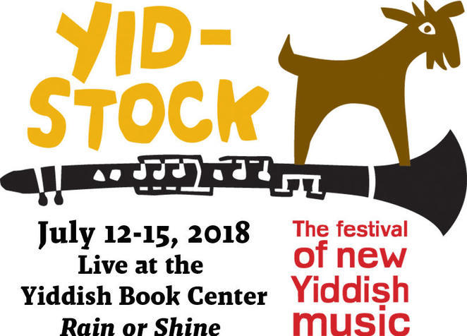 Yidstock logo and 2018 dates