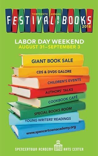 Poster for Spencertown Academy Festival of Books