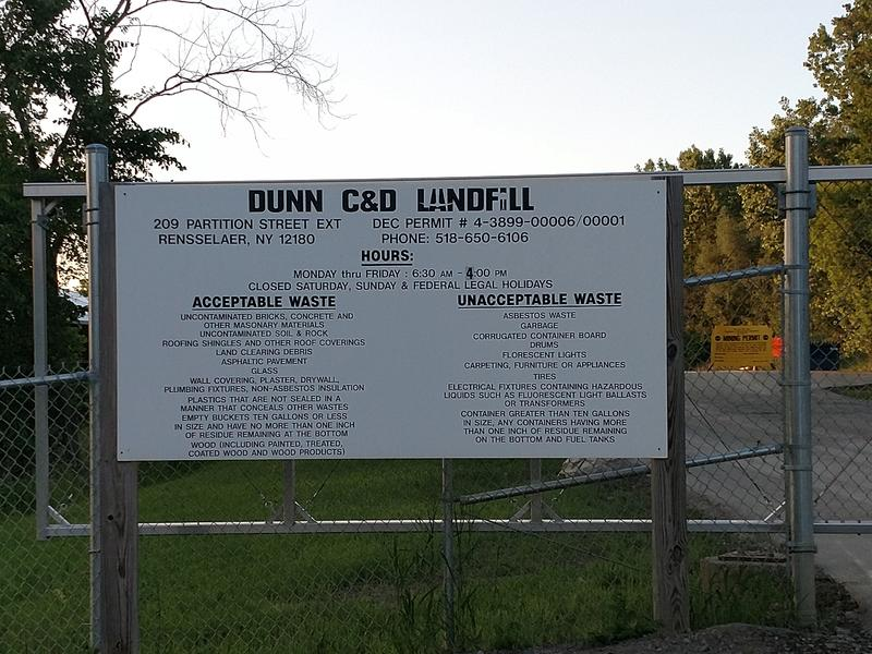 The entrace to the Dunn facility off Partition Street Ext.