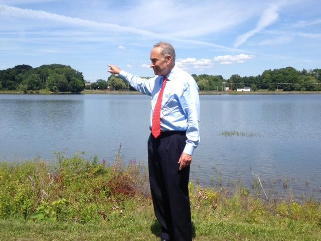 U.S. Senator Charles Schumer at Washington Lake