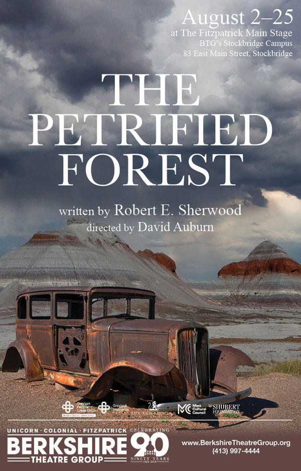 "Poster for ""The Petrified Forest"" at BTG"