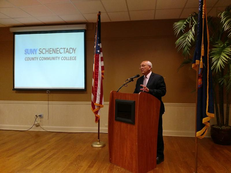 Rep. Paul Tonko speaks at Schenectady County Community College