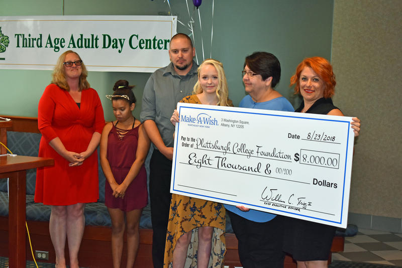 Alyssa Fenton completes her wish to donate to the Third Age Adult Day Center