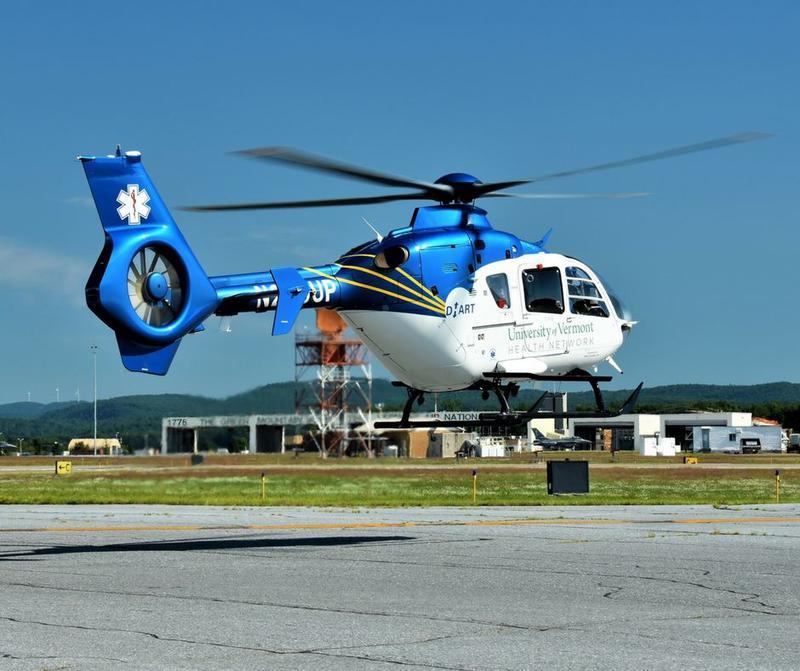 UVM Health Net Transport helicopter
