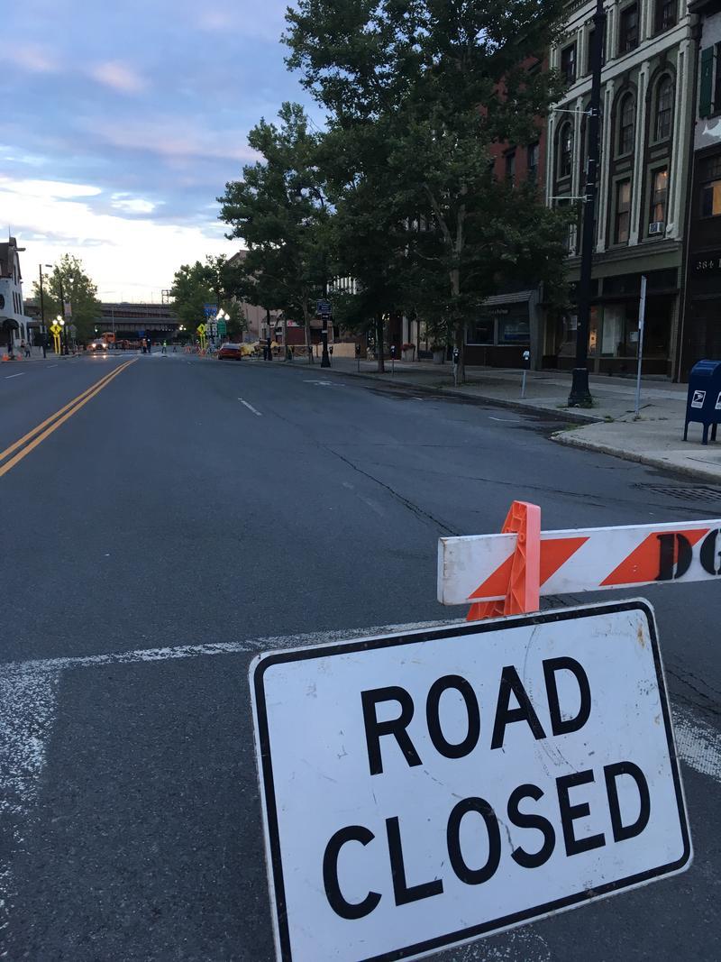 Broadway Road Closure In Albany, New York