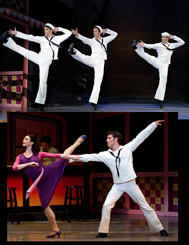 Boston Ballet - (top) James Whiteside, Paul Craig and Isaac Akiba (bottom) Kathleen Breen Combes and James Whiteside in Fancy Free
