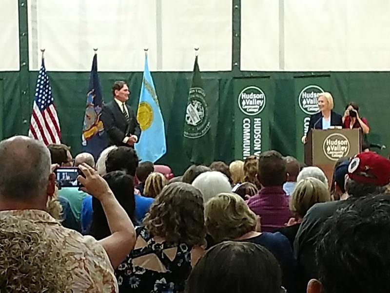 Senator Kirsten Gillibrand (right) at Hudson Valley Community College