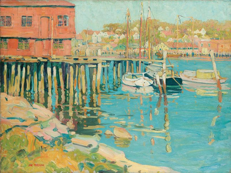 Jane Peterson (American, 1876-1965), Gloucester Fleet, n.d., Oil on canvas, 30 ¼ x 40 ¼ in. (76.84 x 102.24 cm), Collection of David and 'Weezie' Reese. Photo © Christie's Images/Bridgeman Images.