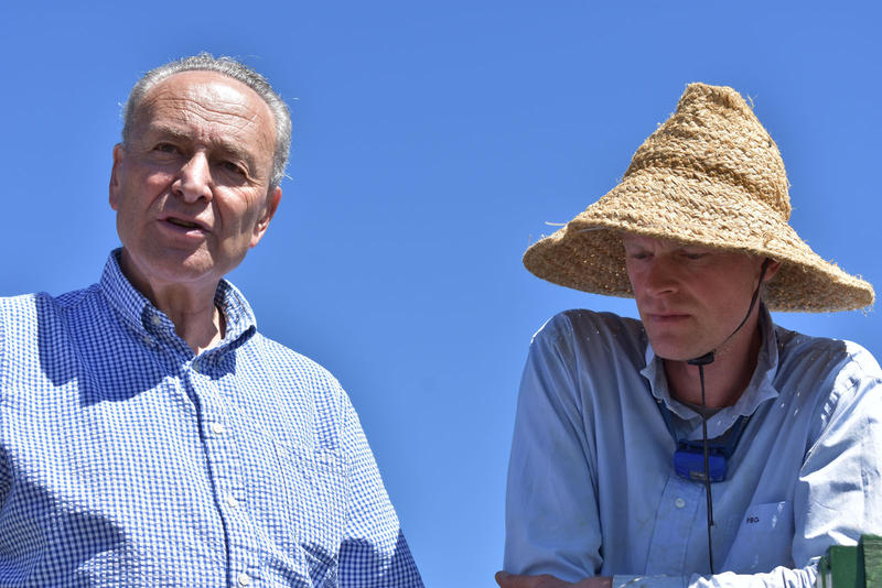 Senator Schumer and Mark Kimball discuss agriculture and technology