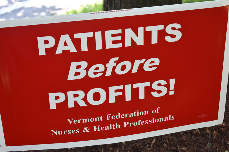 nurses' strike sign