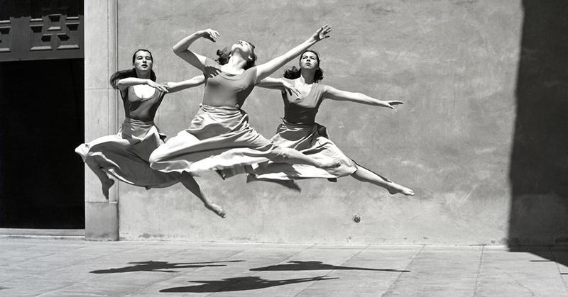 Three Dancers, Mills College, 1930. Imogen Cunningham. Gelatin Silver Print