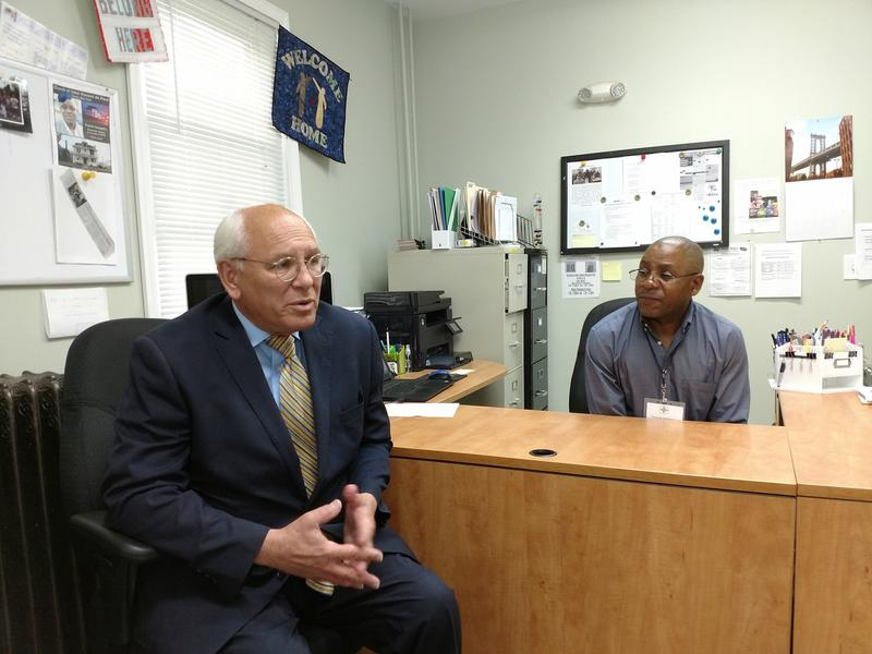 Congressman Paul Tonko and RISSE Operations Director Francis Sengabo