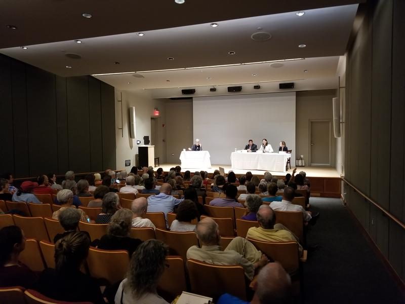 The candidates in the Berkshire District Attorney Democratic primary at a forum at Williams College in Williamstown, Massachusetts, on July 31st.