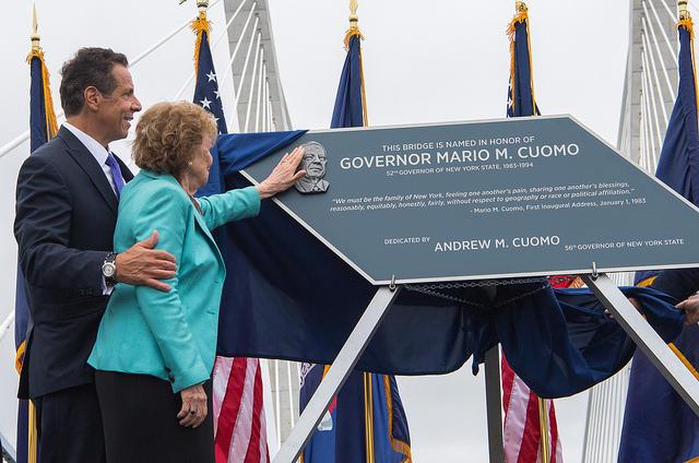 Governor Andrew Cuomo with Matilda Cuomo, his mother