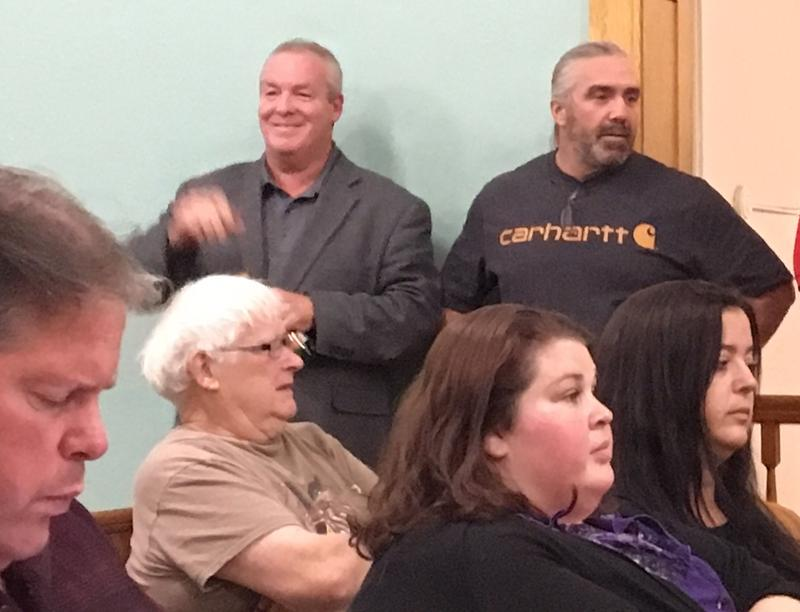 Cohoes Mayor Shawn Morse on the sidelines at a special Common Council meeting.