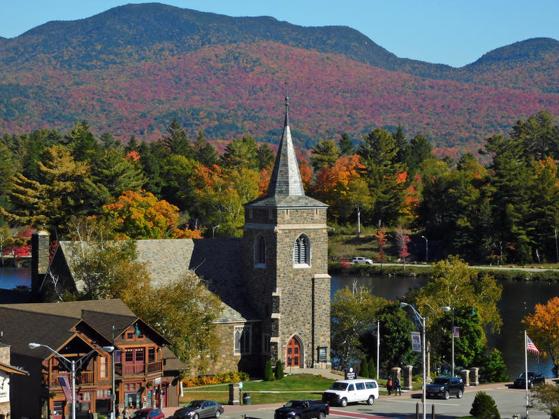 Lake Placid fall foliage (file photo)