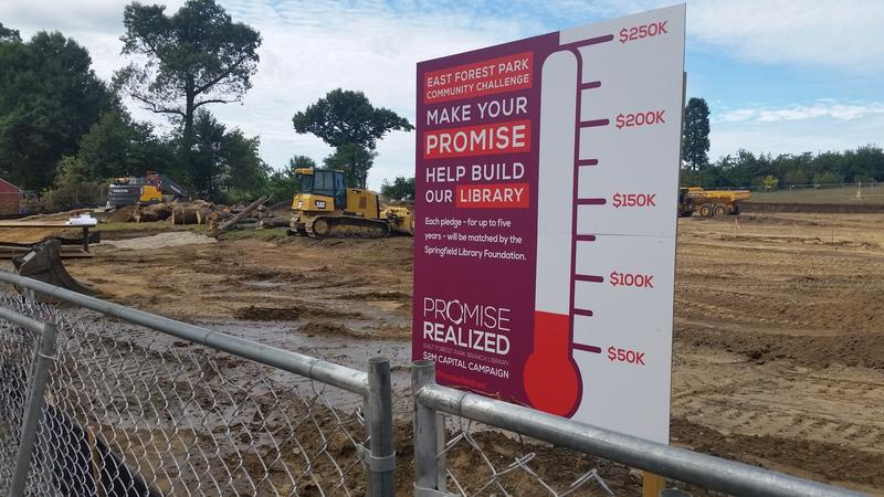 Construction has started on a new East Forest Park Library with a goal to have the neighborhood library branch open 14 months from now.