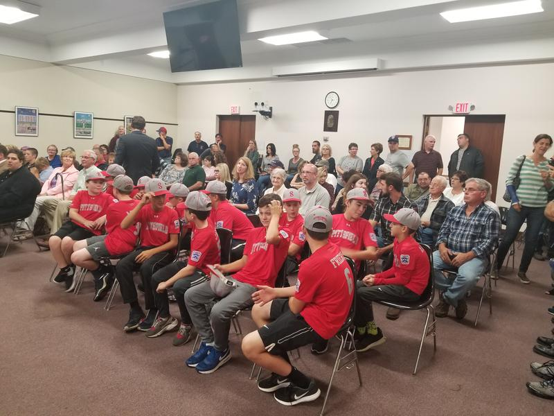Pittsfield's American Little League All-Stars at Tuesday night's City Council meeting.
