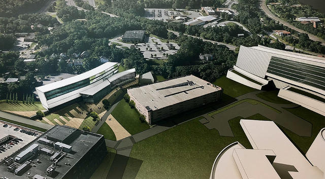 Rendering of Marist Health Quest School of Medicine at Vassar Brothers Medical Center