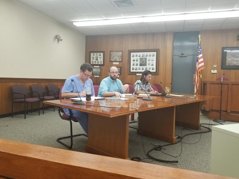 The North Adams Public Safety Committee, made up of three city councilors: Jason LaForest, Benjamin Lamb, and Jason Moran.