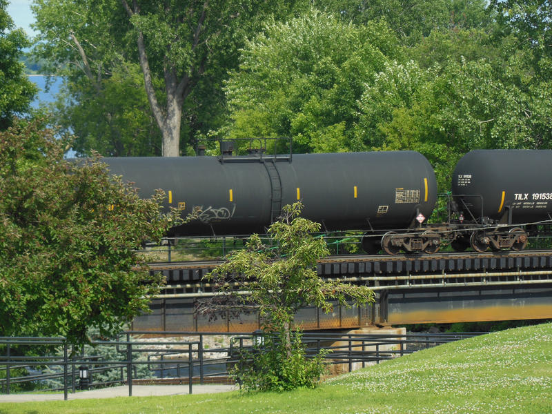 An oil tanker train passes through Plattsburgh (file photo)