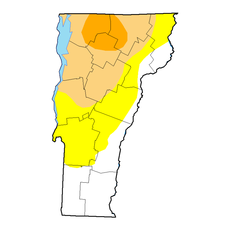 9-18-18 Vermont drought map