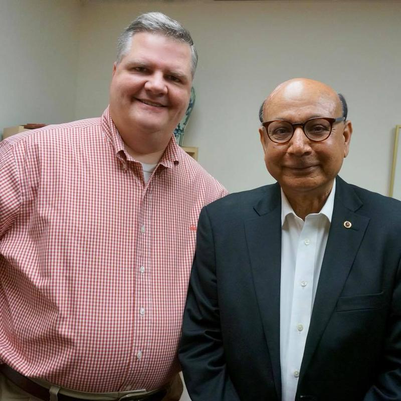 Joe Donahue and Khizr Khan