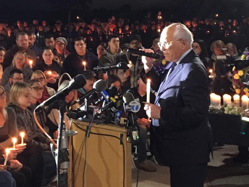 Congressman Paul Tonko choked back tears as he addressed the crowd.