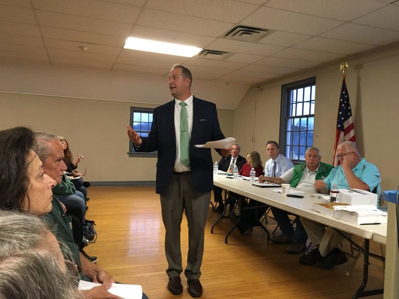Montgomery County Executive Matt Ossenfort speaks to Canajoharie residents