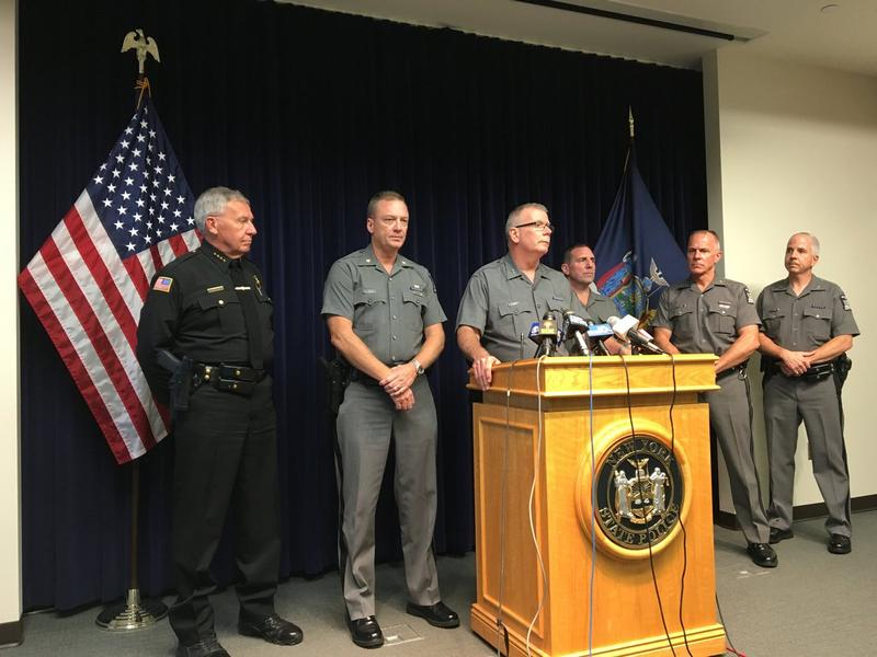 New York State Police Superintendent George Beach speaking Wednesday