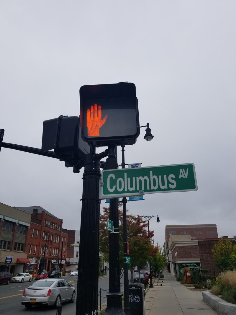 The corner of Columbs Avenue and North Street in Pittsfield, Massachusetts.