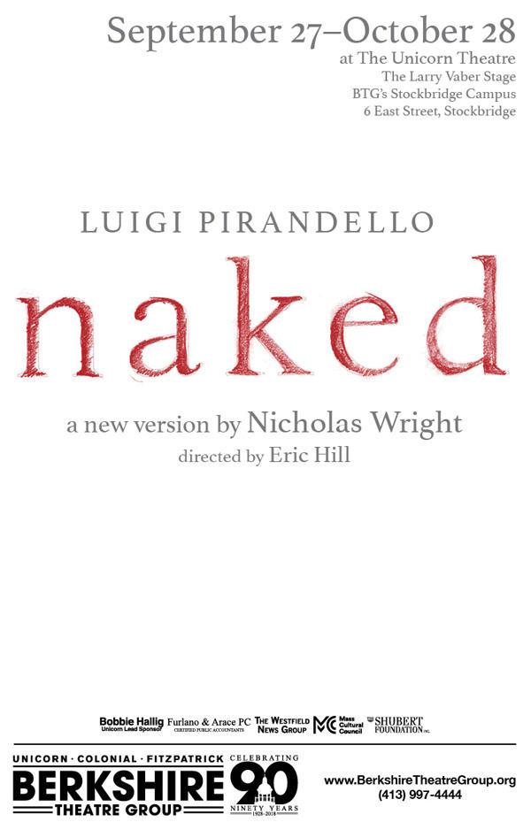 """poster for """"Naked"""" at BTG"""