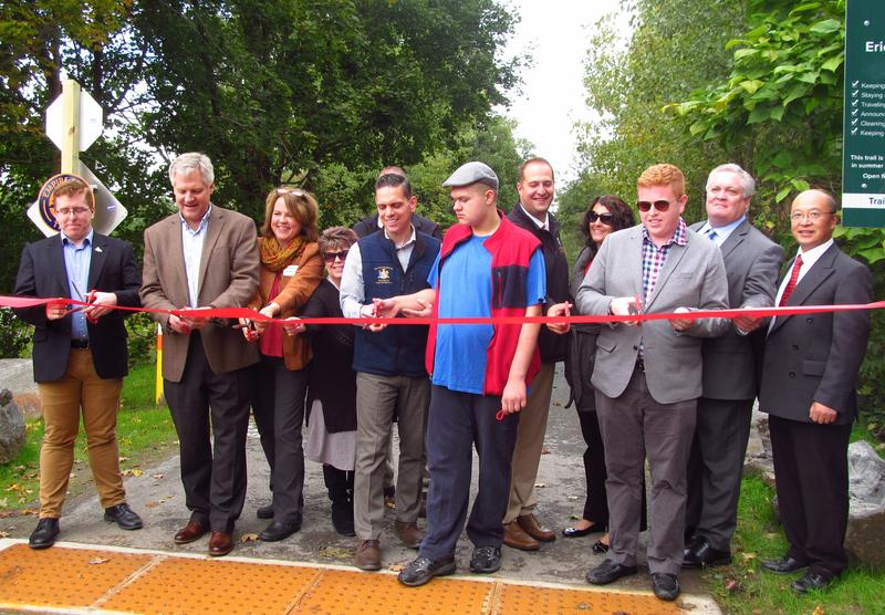 Officials celebrated the new section of the Erie Canalway Trail in Pattersonville
