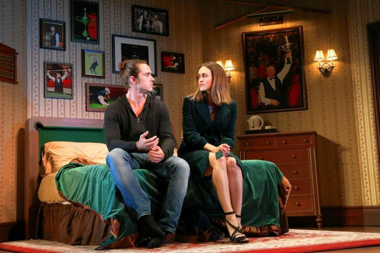 "Ben Schnetzer and Heather Lind in MTC's ""The Nap"