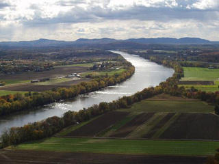The Connecticut River as it winds through Massachusetts