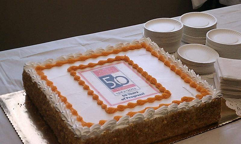 A cake for the 50th annivserary celebration of the Pioneer Valley Planning Commission